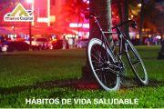USO DE BICICLETA HÁBITO DE VIDA SALUDABLE